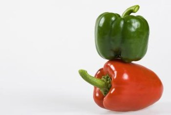 Bell peppers come in other colors besides green.