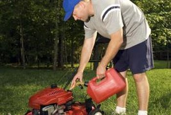 After a period of storage, your Husqvarna lawn mower needs fresh fuel.