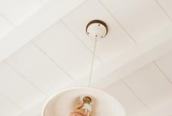 Replacing a hanging light shade can give an entirely new look to the light.