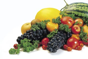 Fruits and vegetables are filling but low in calories.