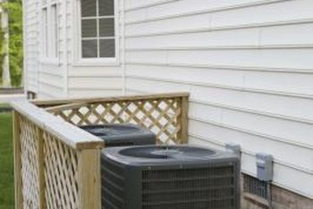 Landscaping can hide an unsightly HVAC unit.
