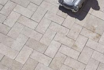 Patio pavers need to be cut to fit small spaces.