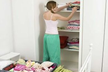 Good closet organization can declutter a small room.