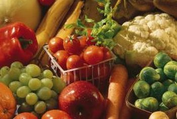 Fresh fruits and vegetables are high in fiber, which helps maintain weight.
