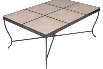 Tile-topped tables are durable and water resistant when finished properly.