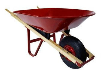 A basic wheelbarrow