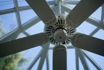 Ceiling fans can save on cooling costs in the summer, as they are much less expensive to run than central air.