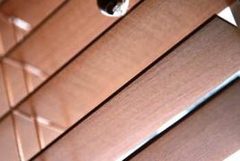 Faux wood blinds are available in different wood-like tones, from light pine to dark maple.