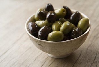 Olives are a good source of monounsaturated fats.
