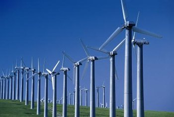 A wind farm requires roughly 17 acres of land to produce 1 megawatt of electricity.