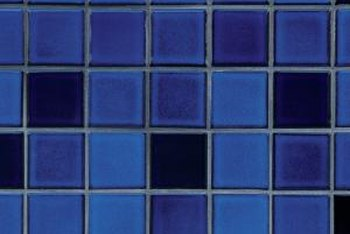 Many times cobalt tiles are mixed in with other shades of blue.