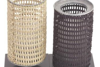Black spray paint transforms natural wicker from country to contemporary.