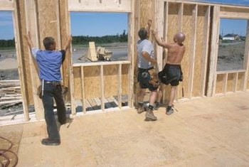 New-home construction involves creating walls in the fresh air.