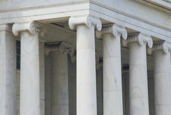 Ionic columns frequently appear in Neoclassical designs.