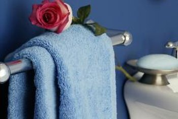 Towel rack height varies based on room layout and users' heights.