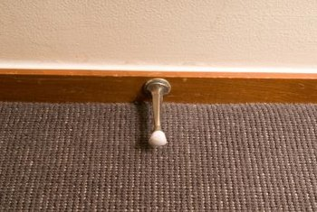 A traditional doorstop does not hold the door open.