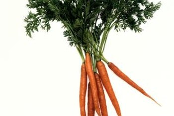 Carrots are high in vitamin A.