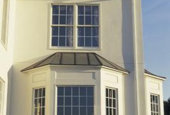 This bay window has double-hung side windows.