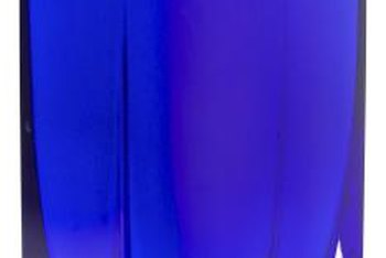 Cobalt glass in front of a window or light source is a striking display.