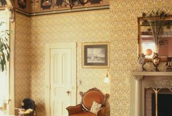 Between crown molding and picture rail, Victorian interiors often feature decorative borders.