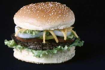 Hamburgers are full of protein, but they're also packed with saturated fat.