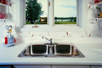 How To Refinish Kitchen Sink how to refinish an old stainless steel kitchen sink | home guides