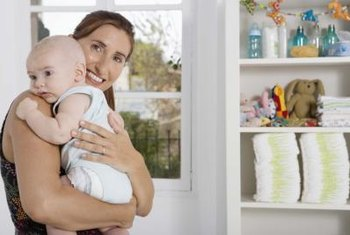 Fill your baby's nursery shelves with practical and decorative items.
