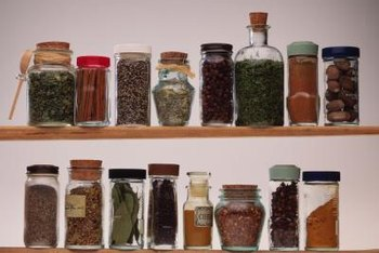 These shallow cabinets are often suitable for spices.