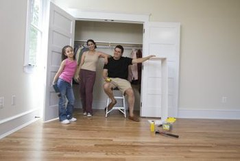Transforming a closet can be a family project.