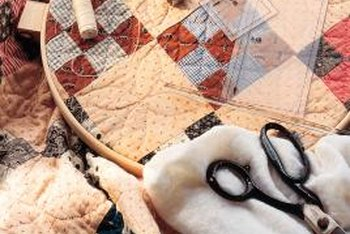 Tufting adds another dimension to quilts.