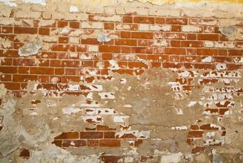MDF is a resiliant covering for an unattractive old brick wall.