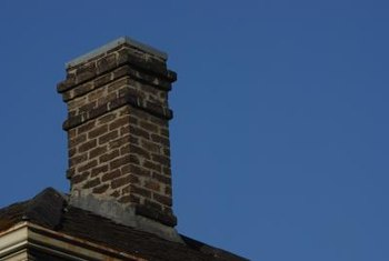 Change the appearance of a chimney by painting over the bricks.