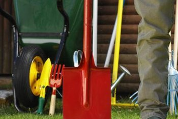 A garden shed keeps your unsightly outdoor tools out of sight.