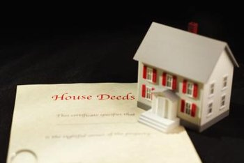 A spouse can quit his claim to real estate by signing a special deed.