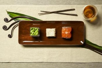 Salmon and brown rice provide healthy lipids, starches and lean protein.