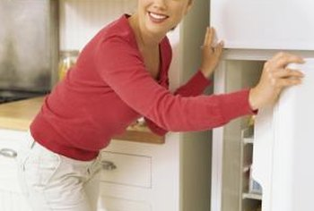 A refrigerator's thermostat measures and regulates the temperature within the refrigerator.