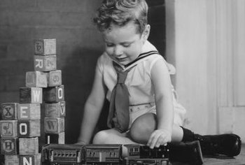 The first toy trains were made in the 1860s.