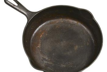 Some cast-iron skillets have a size number on the top of the handle.