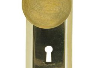 Doorknob manufacturers provide a variety of colors, metals and finishes that match traditional to contemporary designs.