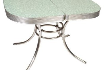 Classic Chrome Tables Often Feature Formica Tops.