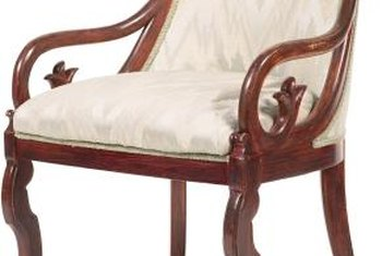 Upholstered chairs use horizontal springs that can be replaced.
