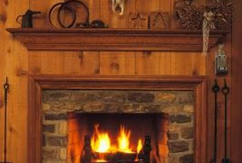 Wood-burning fireplaces add coziness and character to the home.