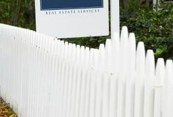 A bright fence draws a buyer's eye and makes your house more appealing.