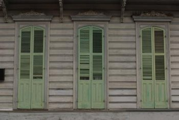 Old matching shutters are a find when you're in need of a folding divider.