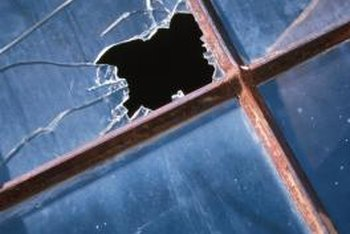 Minor window breaks can be temporarily repaired.