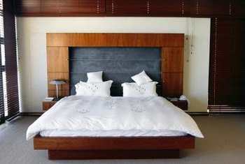 A modern, simple two-layer Asian bed frame is a project for one productive afternoon.