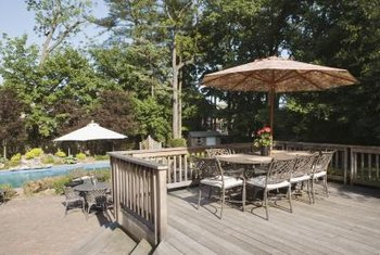Decks higher than 30 inches above the ground require a handrail to prevent falls.