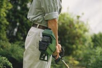 John Deere string trimmers need a ratio of gasoline and engine oil to run.