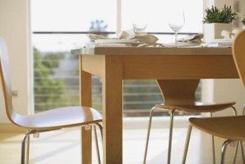Proper cleaning can protect an oak dining table.
