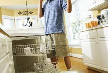 How to Install Laminate Flooring Around a Kitchen Dishwasher